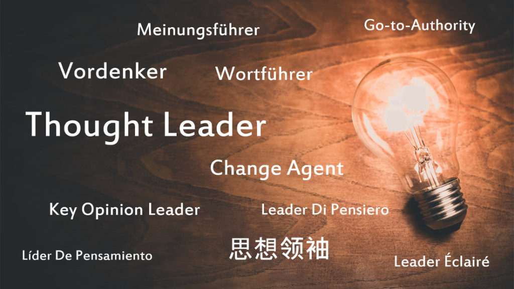 thought leader word cloud